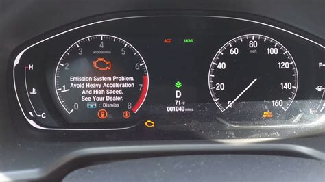 honda accord  adaptive cruise control failure youtube