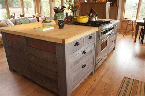 kitchen island from cabinets crafted rustic kitchen island by atlas stringed