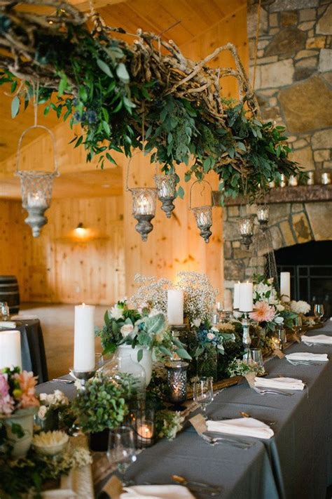 Hanging Candle Chandelier Non Electric 24 Best Ideas For Rustic Wedding Centerpieces With Lots