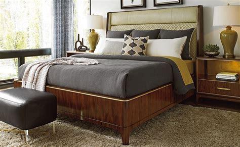 empire upholstered platform bedroom set  lexington coleman furniture