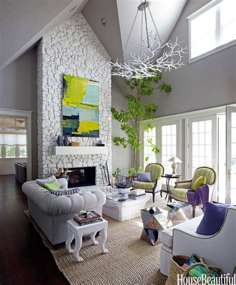 Kalung Gemstone Decorated Design colorful cottage decorating ideas design white fireplace loversiq