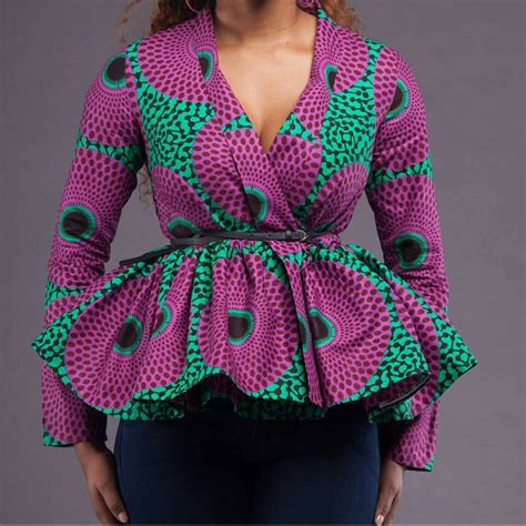 ankara blouses ankara peplum top by afrocollection2015 on etsy https