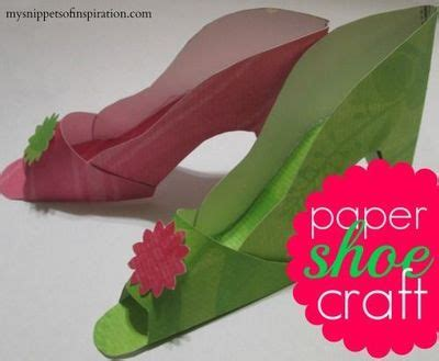 Paper Shoe Craft - paper shoe craft 竄ャcq paper printables templa
