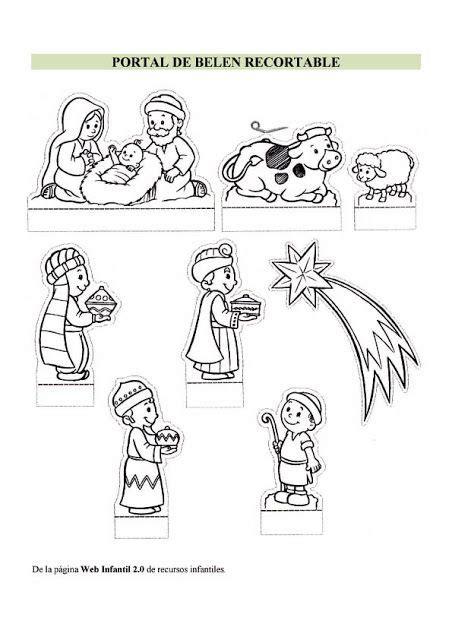 imagenes del nacimiento de jesus para recortar adviento y navidad nacimiento para colorear y recortar