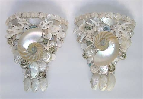 Seashell Sconces shell lighted sconces seashell sconces sealife lighted sconces by kendall designs