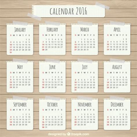 How To Make A Paper Calendar - paper 2016 calendar vector free