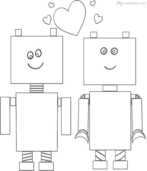 preschool robot coloring pages robot valentine coloring page february pinterest