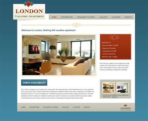 Vacation Rental Website Template Vacation Rental Website Template 6 Free Web Templates Phpjabbers