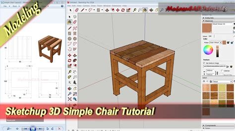 sketchup layout 2013 tutorial sketchup design 3d simpe chair modeling tutorial youtube
