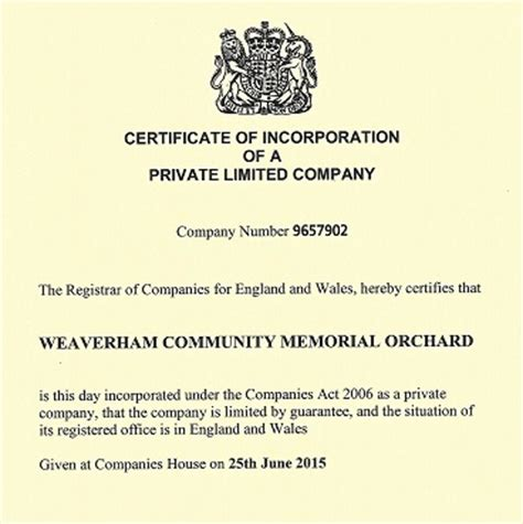 uk companies house orchard incorporated at companies house