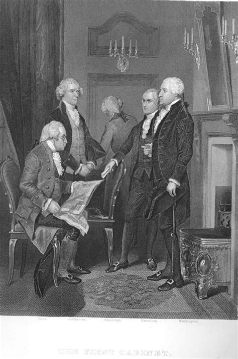 who was in washington s cabinet inaugural speech of president george washington and