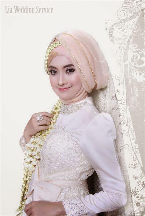 tutorial hijab pengantin 2015 kebaya cantik dengan warna pink kebaya muslim pengantin