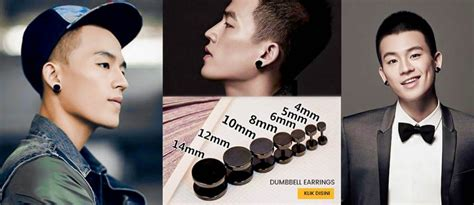 Anting Fashion Korea Hijau Terang jaket pria korea black blazer