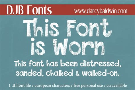 dafont distressed djb this font is worn darcy baldwin fonts