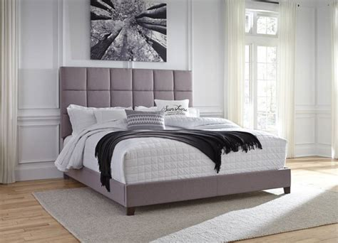 ashley furniture contemporary gray king upholstered bed classy home