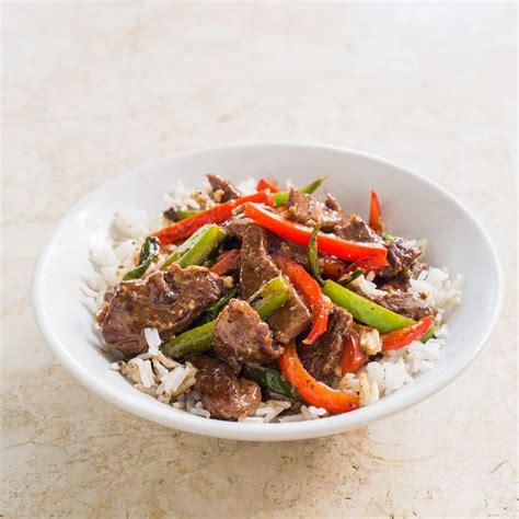 America S Test Kitchen Beef Stir Fry beef stir fry with bell peppers and black pepper sauce