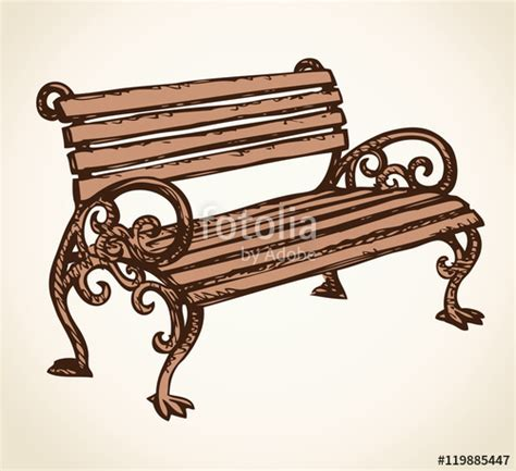 park bench drawing quot park bench vector drawing quot stock image and royalty free