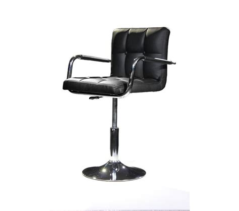Dreamfurniture Com B05 Modern Eco Leather Black Swivel Black Swivel Chair