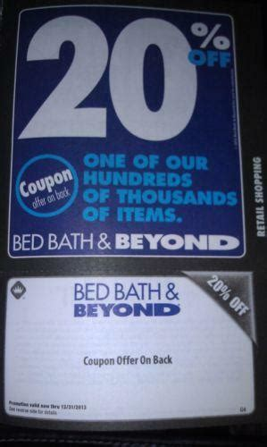 20 Coupon For Bed Bath And Beyond by Bed Bath And Beyond 20 Coupon Ebay