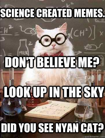 Science Cat Meme - science cat meme memes