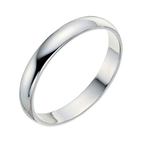 3Mm Wedding Band – Slightly Flat 3mm Wedding Band in 14k White Gold