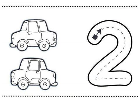 coloring page number two number two learning coloring pages 7 171 preschool and