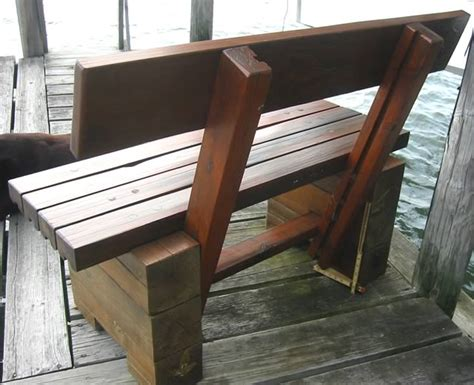 diy bench with backrest timber frame tools 187 windproof dock bench outdoor bench