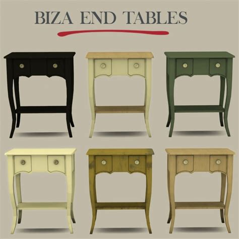 bathroom biza biza end table at leo sims 187 sims 4 updates