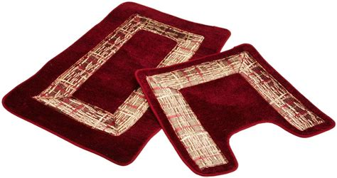 Burgundy Bathroom Rugs Barbara 2 Bath Rug Set Burgundy 18x28 18x18