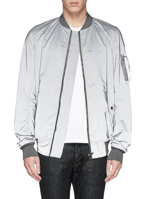 Attention Bomber Grey By Dn2group drkshdw by rick owens reflective glass fibre bomber jacket