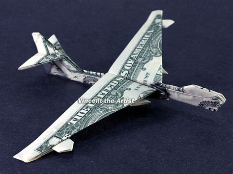 Dollar Bill Origami Airplane - handmade jet engine handmade free engine image for user