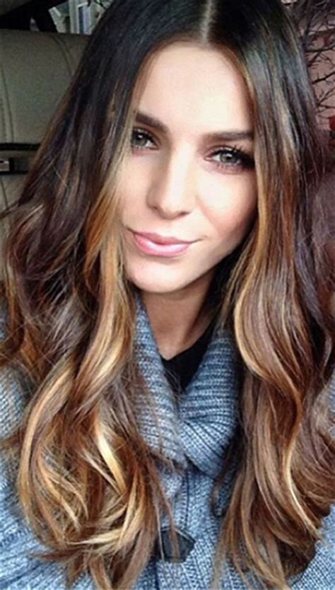 ribbon highlights for brunettes fall winter 2014 hair color trends guide simply