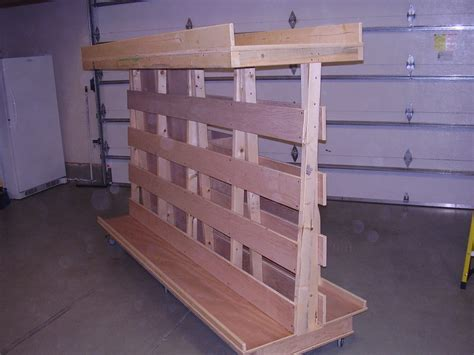Wood Storage Rack Plans by How To Build Portable Lumber Storage Cart Pdf Plans