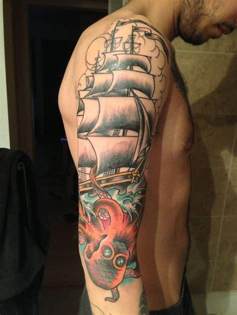 kraken ship tattoo kraken or octopus nautical attack