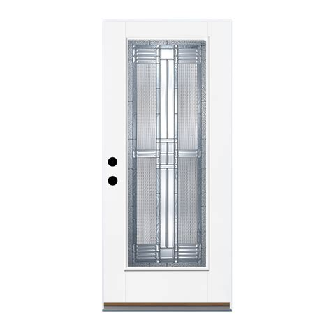 32 X 80 Exterior Door Shop Therma Tru Benchmark Doors Dunthorpe Flush Insulating Lite Left Outswing