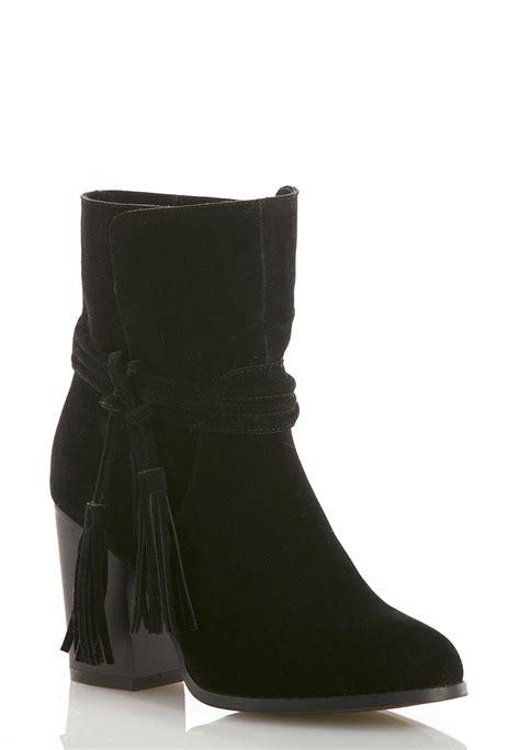 Tasseled Ankle Boots tasseled ankle boots ankle shooties cato fashions