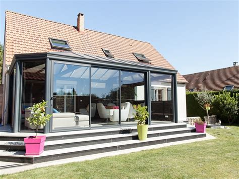 la veranda v 233 randa avec muret et escalier jardin le v 233 randier