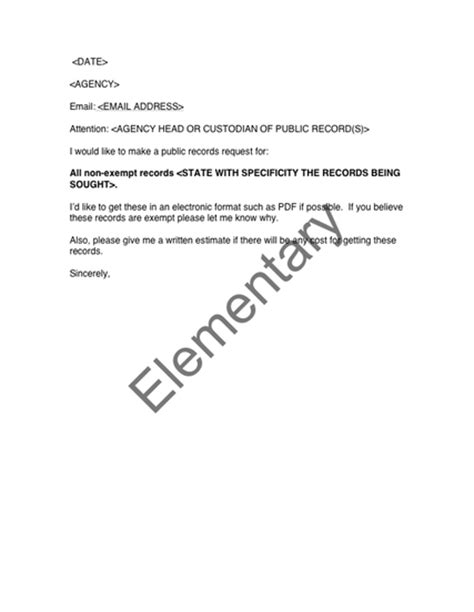 template to request records template for elementary school records request pictures to
