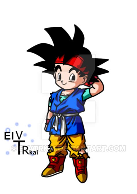 imagenes de goku jr de grande goku jr color by elvtrkai on deviantart