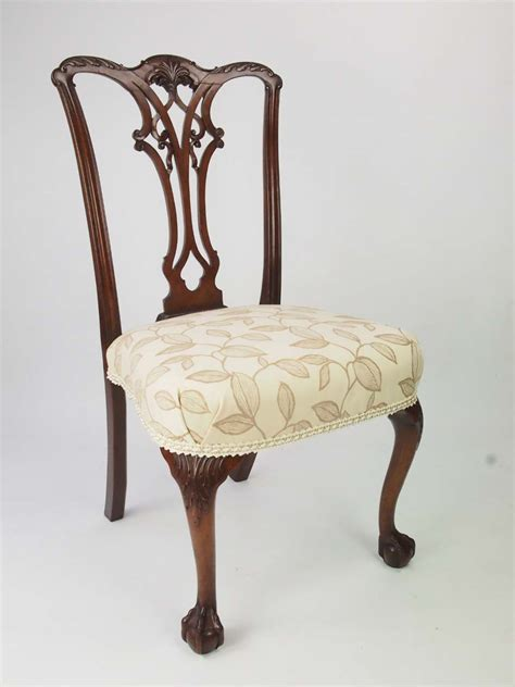 antique chippendale chairs antique edwardian chippendale revival chair with label