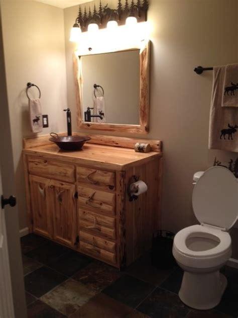 custom rustic cedar bathroom vanity  king   forest