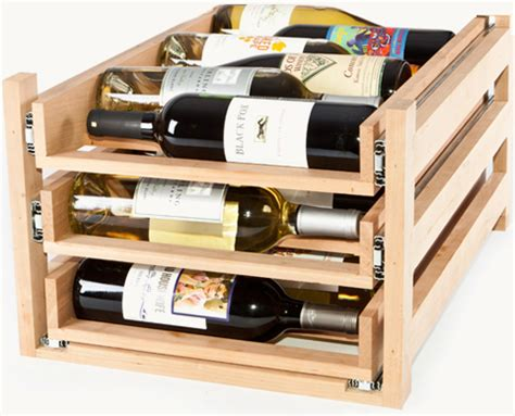 Wine Rack Drawer Insert by In Cabinet Wine Racks By Wine Logic Gt Gt Kitchen Storage