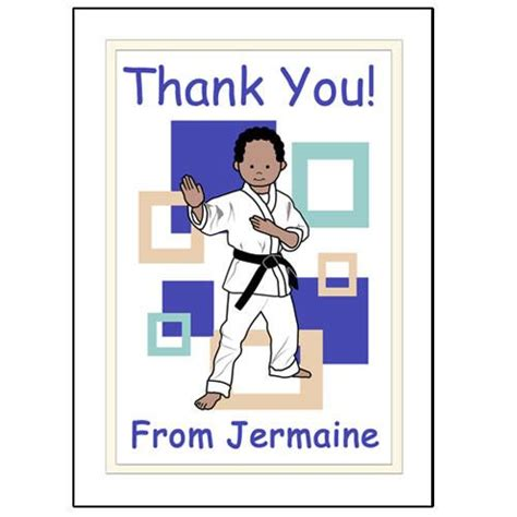 Thank You Letter To Karate Martial Arts Or Karate Personalized Thank You Note Cards