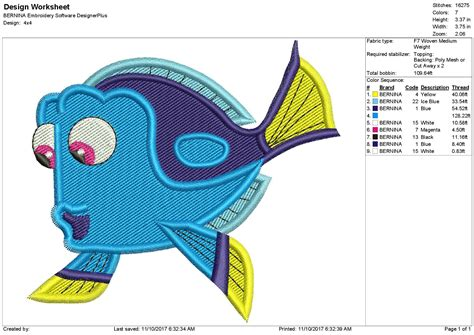 u design embroidery dory fish embroidery design dory embroidery