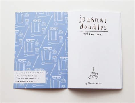 graphic design visual journal journal doodles volume one the book design blog