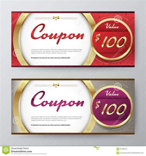 coupon card template gift voucher template promotion card coupon design