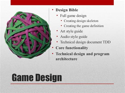 game design bible game development pre production