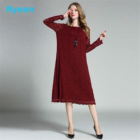 mid lace bkk bigsize fit xxxl 2017spring large size lace dresses vintage mid