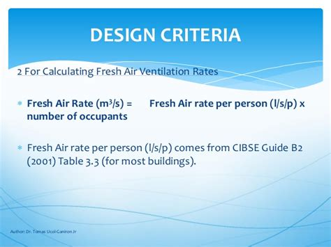 design criteria for ventilation ventilation rate proper sizing and accessories