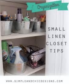 tips for organizing a small linen closet organize